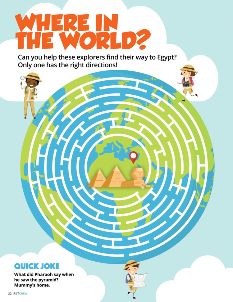 Where in the World Maze