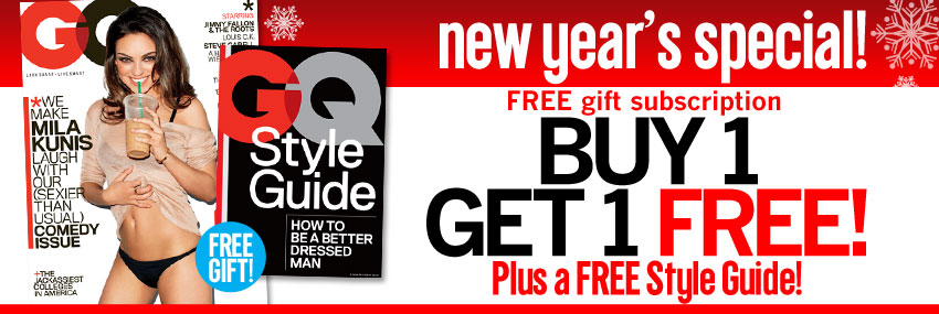 Buy One GQ Gift Subscription and Get